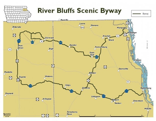iowa scenic byways map Visit Iowa Northeast Iowa Tourism Allamakee County Iowa iowa scenic byways map